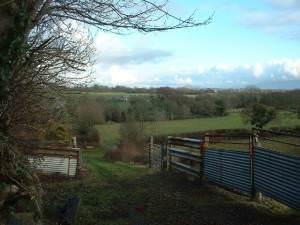 Farmland near Llanystumdwy
