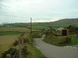Country lane at Uwchmynydd