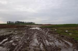 Work on a new fishing lake on farmland just off Back Lane