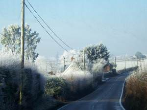 A372 between Coombe and Aller nr Langport Somerset