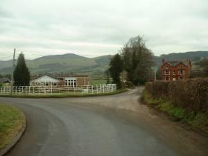 Road junction near Gorffwysfa