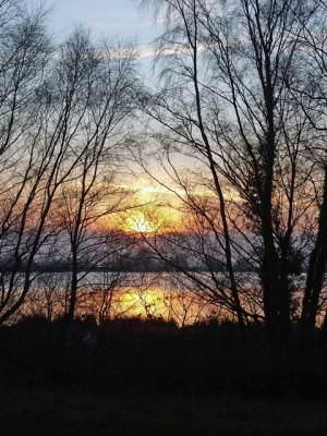 Sunset at Penyfan Pond