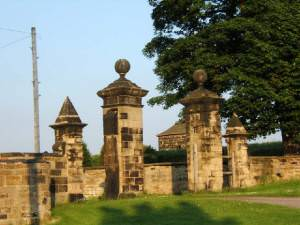 Entrance to Sharlston Hall.