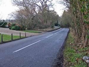 Brickendon Lane, Hertford, looking north