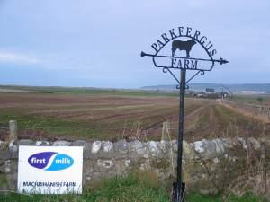 Farm sign off the B843 Machrihanish road.