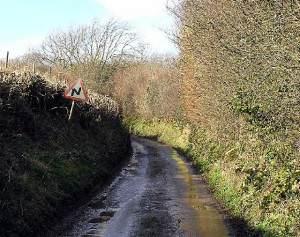 Lane, near Higher Eype