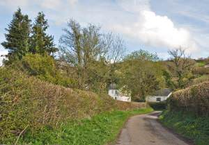 Lane off the B4306 between Llangyndeyrn and Crwbin