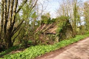 Rural ruin on lane off the B4306 between Llangyndeyrn and Crwbin