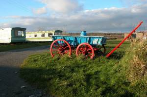 Cart on a caravan site near Trevothen, Coverack