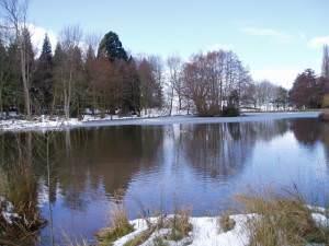 Pentre-Coch Manor lake