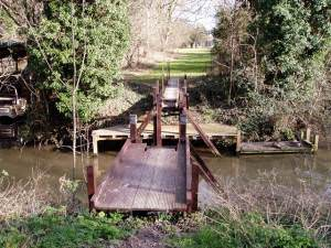 Moving bridge over Burwell Lode