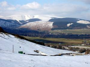 Looking towards Moffat from Beattock Hill