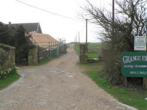 Lane to Grange Farm Camp Site