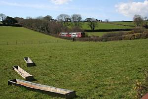 Railway through Pasture Land