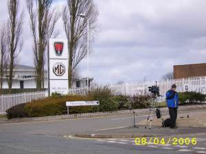 Camera Man Outside Longbridge Motorworks