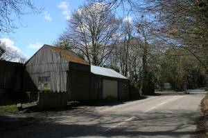 Corrugated Iron Building at the Crossroads