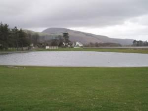 Boating lake on Llanfairfechan sea front