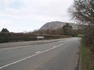 Aber Road, south west of Llanfairfechan