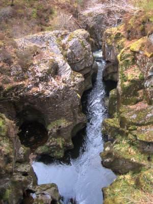 Rheidol gorge at Pombren Ffeirad