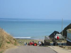 West Runton beach slip-way