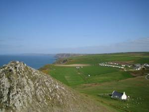 View from Foel y Mwnt