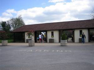 Entrance to Monkey World, near Wareham