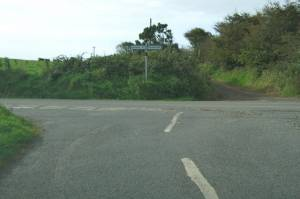 Junction of a minor road and the B798