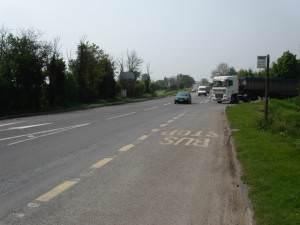 A38 Frampton on Severn turnoff