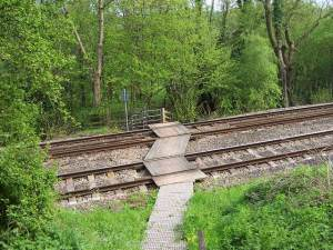 Pedestrian Railway Crossing, Pandy