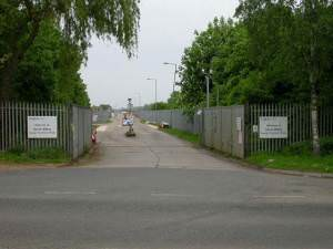 Entrance to Great Billing Sewage Treatment Works