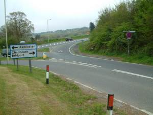 A35 minor road junction