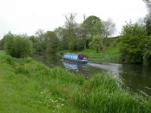 Narrowboat on the Nene