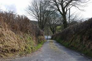 Minor road following the Afon Peris