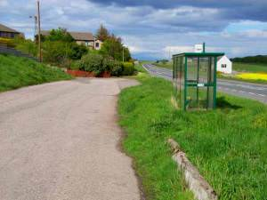 Layby and bus stop at Roadside of Catterline