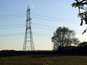 Pylon in the field