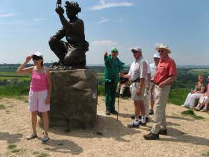 Commemorative statue at the highest point in Nottinghamshire