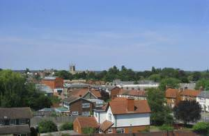 Newport Pagnell skyline