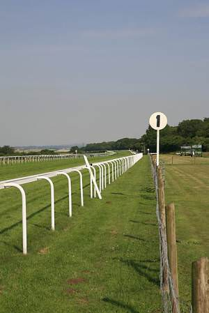 Salisbury Racecourse, looking east down main straight