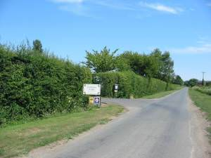 Caravan Park entrance south of Snainton