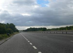 The A55 between Broughton and Eccleston