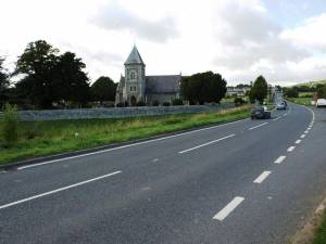A483 and St Padarn Church South of Crossgates