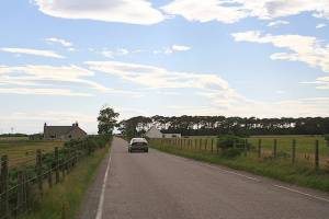 Cottages along the B9092.