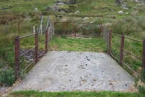 Footbridge over leat on Y Braich
