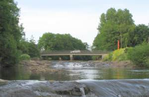Bridge over Amman river, joining Ammanford and Betws