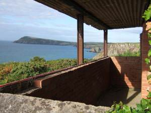 Wartime observation post on Pembrokeshire coast