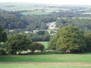 View  over Llwyngwair Manor, Newport/Trefdraeth