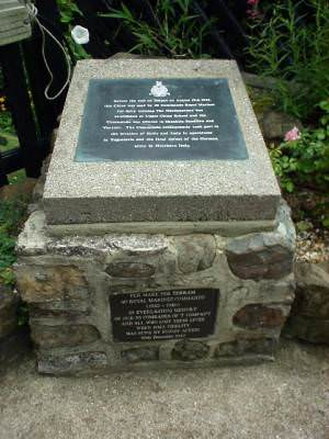 Shanklin Chine, Royal Marines Memorial
