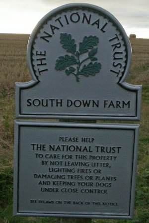Sign at Rew Cross
