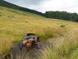 Abandoned car, Miterdale