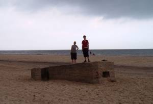 Look-out shelter on Hemsby Beach